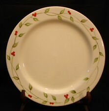 Green Leave / Vines / Red Berries By Home DINNER PLATE 11""