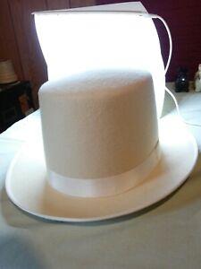 Steampunk Style Bridal / Wedding Top Hat wool medium vintage classy eye catching
