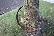"Antique Wagon Buggy Automobile Wheel-12 Spoke-Iron-25 3/4"" Tall-#2-Country Decor"