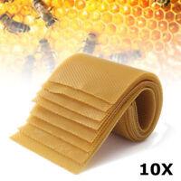 10tlg Mittelwände für Imker Bienenwaben Wachsplatten Bienenwachs Zander 40x20cm