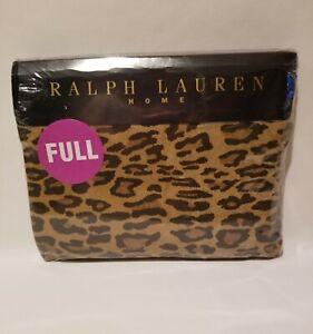 Ralph Lauren Home Aragon Neutral Leopard Print FULL Flat Sheet NEW IN PACKAGE