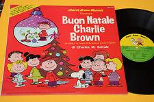 LP BUON NATALE CHARLIE BROWN 1°ST ORIG ITALY 1979 MINT CON LIBRO FUMETTI 12 PAG