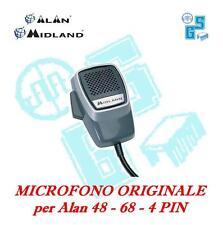 NEW MIKE MIDLAND MICROFONO ORIGINALE RICETRASMETTITORE CB ALAN 68 4 pin T059.01