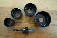 Frost 5 Piece Holesaw Set For Wood, Plaster and Plastic