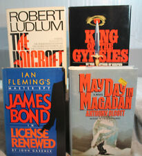lot 4 vtg old Adventure mystery James Bond KING OF THE GYPSIES HOLCROFT COVENANT