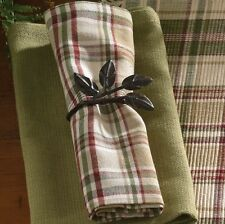 Napkin - Thyme by Park Designs - Kitchen Dining Green Burgundy Tan