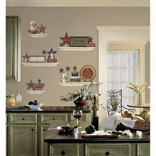 COUNTRY Family & Friends WALL DECALS 39 New SHELVES STARS & SIGNS Stickers Decor