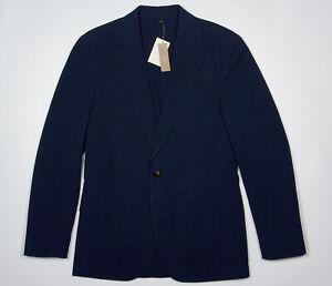 NWT J CREW LUDLOW Navy Blue Blazer 34 S in Cotton Seersucker Summer Wedding
