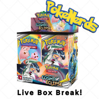 Random Type | NEW Pokemon Cosmic Eclipse Sun & Moon Booster Box Break LIVE