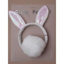HEN NIGHT / PARTY  Plush Bunny White Rabbit Headband Ears Tail Fancy Dress