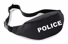 POLICE Belt Bag Black Funny Printed Fancy Dress Costume Outfit Bum Waist Pack