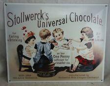 Repro Emailschild Stollwerck Schokolade sehr schön