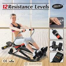LCD Genki Multi-function Hydraulic Exercise Rowing Machine 12 Resistance Levels