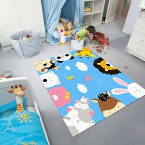 Animal Print Area Rugs Zoo World Kids Rugs And Carpets Blue Sky Carpet baby gift
