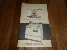 Vintage Westinghouse Electric Range Care Use Recipe Book Pamphlet 1RN-1002