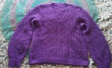 Purple diamond knitted jumper/geek/preppy /grunge 12