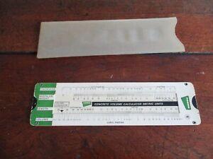 Pioneer Concrete Volume Calculator -Circa 1980s