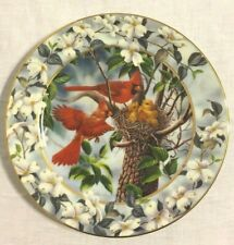 Vintage Red Birds Limited Edition Of A Family Feast In The Signs Of Spring Plate