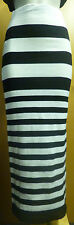 BLACK AND WHITE STRIPED MAXI SKIRT S BNWOT