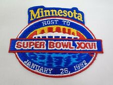 Minnesota Host To 1992 Super Bowl XXVI Patch NFL Football Washington Redskins