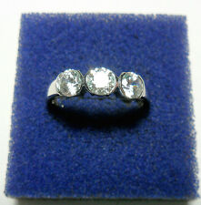 925 St silver ring, made with Swarovski crystals, size 'Q' US 8,