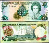 Cayman Islands 5 Dollars C/2 P 34 b UNC