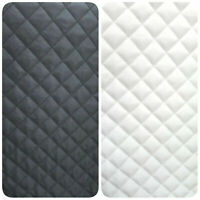 "Polyester QUILTED BATTING 1 inch diamond 58"" BLACK / WHITE by the yard"