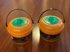 McDonald's 1999 Halloween Happy Meal Bucket Pail 2 Orange Pumpkin Cookie Cutters