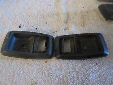 79-93 Mustang Inside Door Handle Bezels Pair Black Inner Used Ford