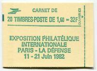 RC 5981 FRANCE CARNET 2219-C 1a LIBERTÉ 20 TIMBRES A 1,60f VARIÉTÉ MNH NEUF **