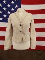 GAP Jacket Blazer Stretch Corduroy Coat Style Beige Women's Size 6