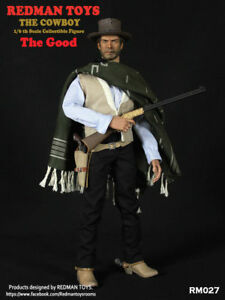1/6 REDMAN TOYS RM027 A Fistful Of Dollars The Cowboy Clint Eastwood Figure Toy