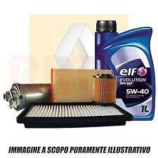 KIT TAGLIANDO 5 LT OLIO ELF 5W40 +4 FILTRI RENAULT CLIO III 1.5 DCI Dal 2005