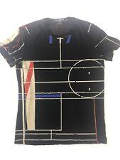 GIVENCHY Paris Men's Size XL Multicolor Geometric T-Shirt Tee Short Sleeve Shirt
