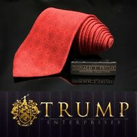 DONALD J. TRUMP~ SIGNATURE COLLECTION Red Geometric NECKTIE POWER TIE