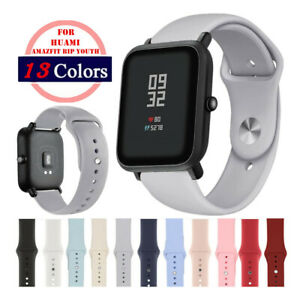 20mm Soft Silicone Sports Wrist Watch Band Strap for Amazfit Bip Youth / Lite/S
