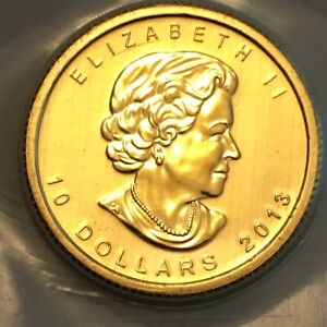 1/4 Oz Gold Coin Canada Polar Bear 2013