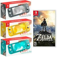 🏹 NEW Nintendo Switch Lite 32GB PICK COLOR + FREE Zelda: Breath of the Wild 🏹