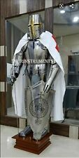 X-Mas Armour Medieval Wearable Knight Crusader Full Suit Of Armor Collect