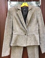 Ann Taylor Signature Brown Wool Blend Tweed Pants Sz 4 Suit Womens Jacket Sz 6