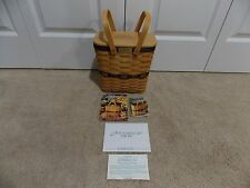 ** LONGABERGER ** 1999 Collector's Club Tall Key COMBO (basket, lid, protector)