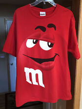 Red M&M's Candy Chocolate Vintage Shirt Men's Large Great Condition!  WOW!!!