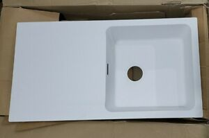 FRANKE ORION 1 BOWL TECTONITE INSET KITCHEN SINK REVERSIBLE 940 X 510MM WHITE 1A