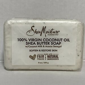 Shea Moisture 100% Virgin Coconut Oil Shea Butter Soap w/Coco Milk & Acacia Bar