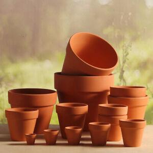10Pcs Plant Pots Terracotta Strong Clay Ceramic Cactus House Pot Various Sizes