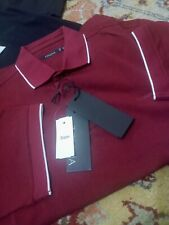 NWT ERMENIGILDO ZEGNA POLO SHIRT ALL COTTON SHORT SLV TAILORED FIT