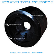 "x12 BOAT TRAILER WOBBLE ROLLERS. 4"" BLACK SMOOTH 18-22mm Bore Soft Wobble Roller"