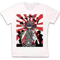 Gorillaz Band Alternative Hip Hop Rock Brit Band Blur Albarn Unisex T shirt 1203