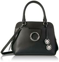 Calvin Klein NWT $248 Black Leather Reese Top Handle Satchel Purse Crossbody
