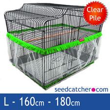 BIRD Cage seme Catcher Guard Tidy Velluto Verde Large 180 cm doppio cinturino